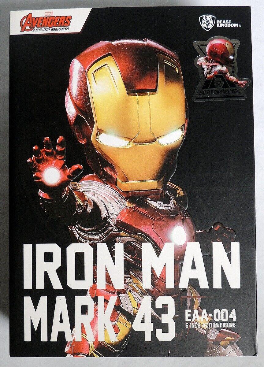 precios bajos P0225 EAA-004 Iron Man Man Man Mark 43. figura De Acción daño de batalla Bestia Reino  tiempo libre