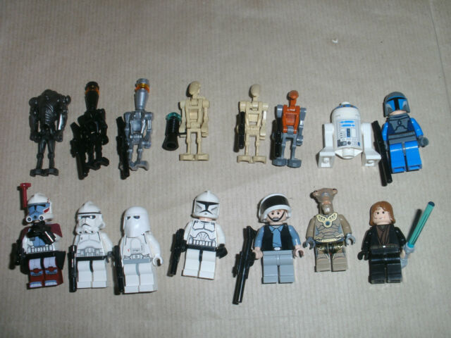 USED LEGO STAR WARS MINIFIGURES - EP 1 2 3 4 5 6 REBELS EMPIRE CLONES DROID LOT1