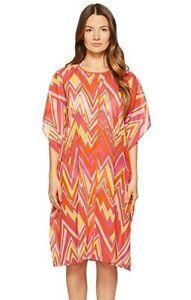 M-Missoni-180496-Womens-Zigzag-Cotton-Swimwear-Cover-Up-Dress-Pink-Size-Medium