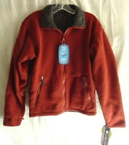 COLUMBIA-TECH-Red-Black-Reversible-Liner-Sweater-Jacket-Mens-Size-SMALL-NEW-NWT