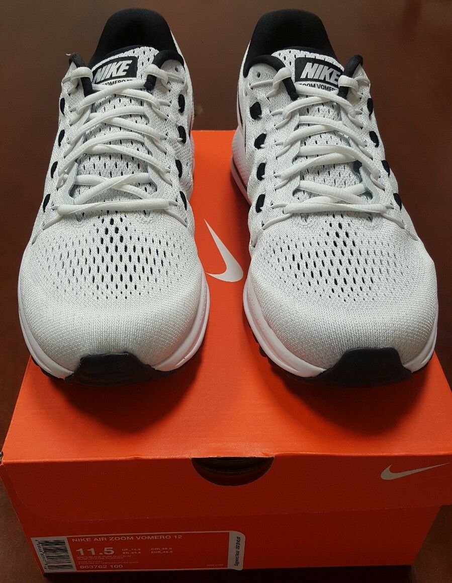 Nike Air Zoom Vomero 12 Sneakers White/Black Comfortable Special limited time New shoes for men and women, limited time discount