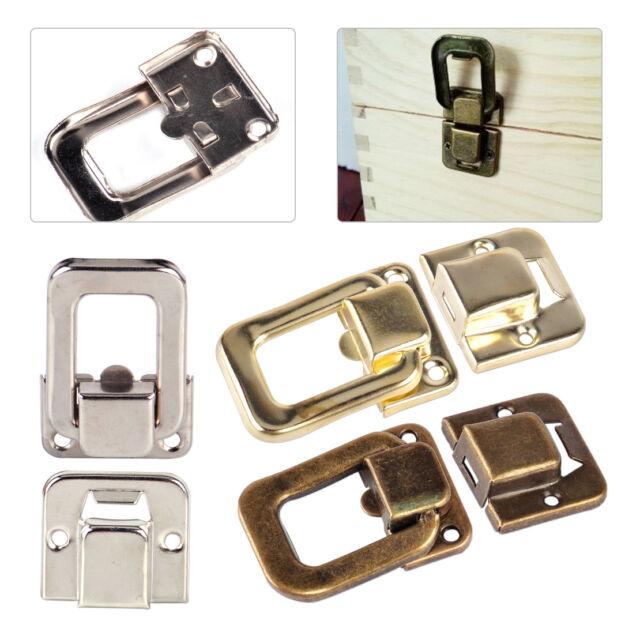 10pcs Antique Retro Chest Box Wooden Case Suitcase Hasp Latch Lock Buckle Clasp