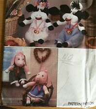 NEW + VINTAGE SIMPLICITY COW PIG & CLOTHES SEWING PATTERN 9228 ONE SIZE