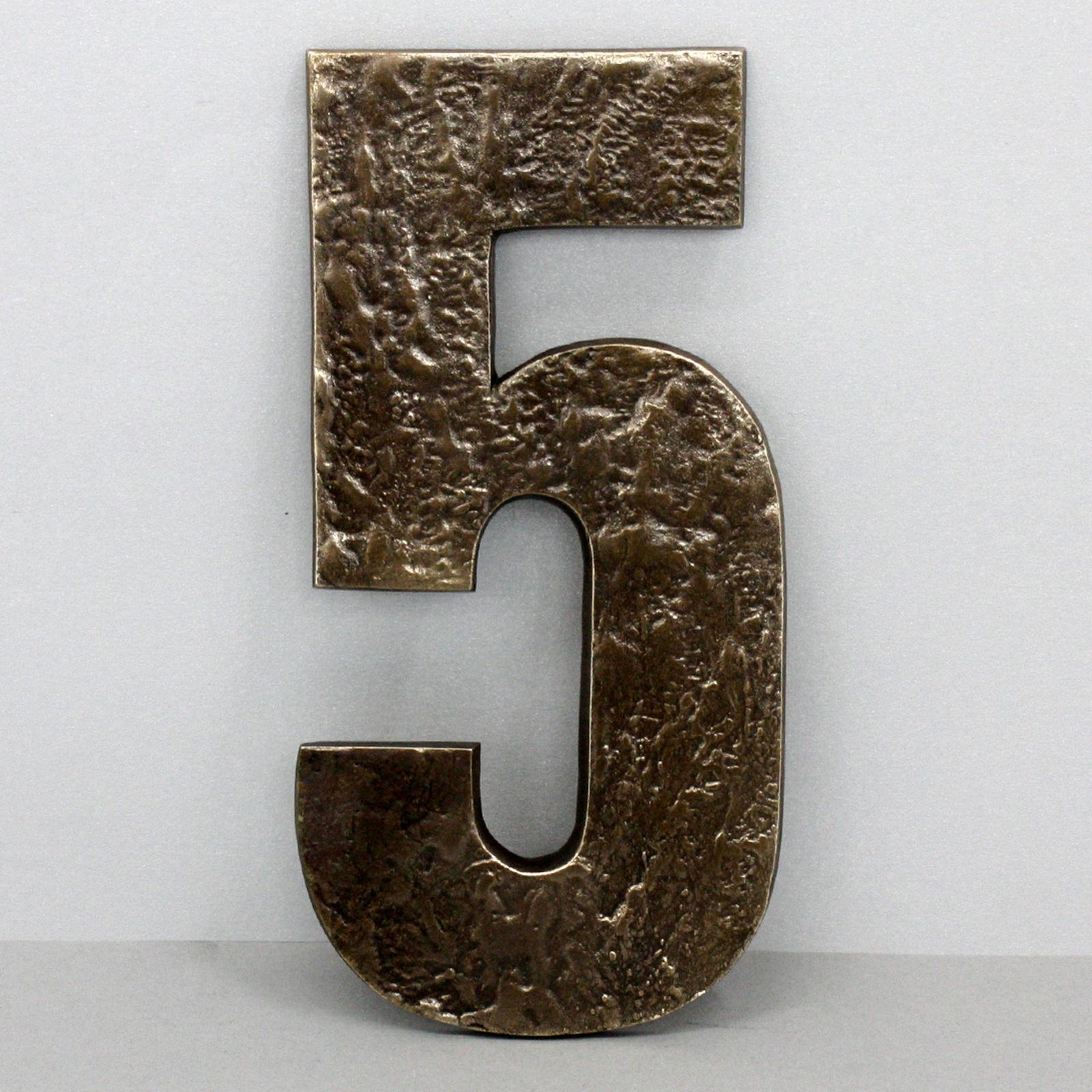Gigantische Handgefertigte 24 cm Bronze Hausnummer Ziffer Ziffer Ziffer 5 Anft Hausnummern | Offizielle Webseite  | Discount  | Online Outlet Store  2696f1