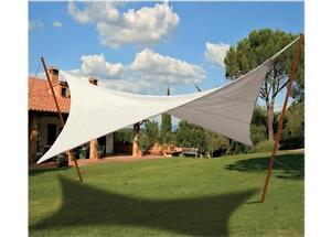 Vela ombra ombrellone copertura top telo gazebo 4 corde mt 3 x 3