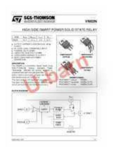 ST VN02N TO-220,High Side Smart Power Solid State Relay