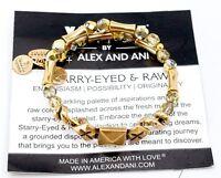 Alex And Ani Vintage Sixty Six Starry-eyed & Raw Gold Bracelet Wrap