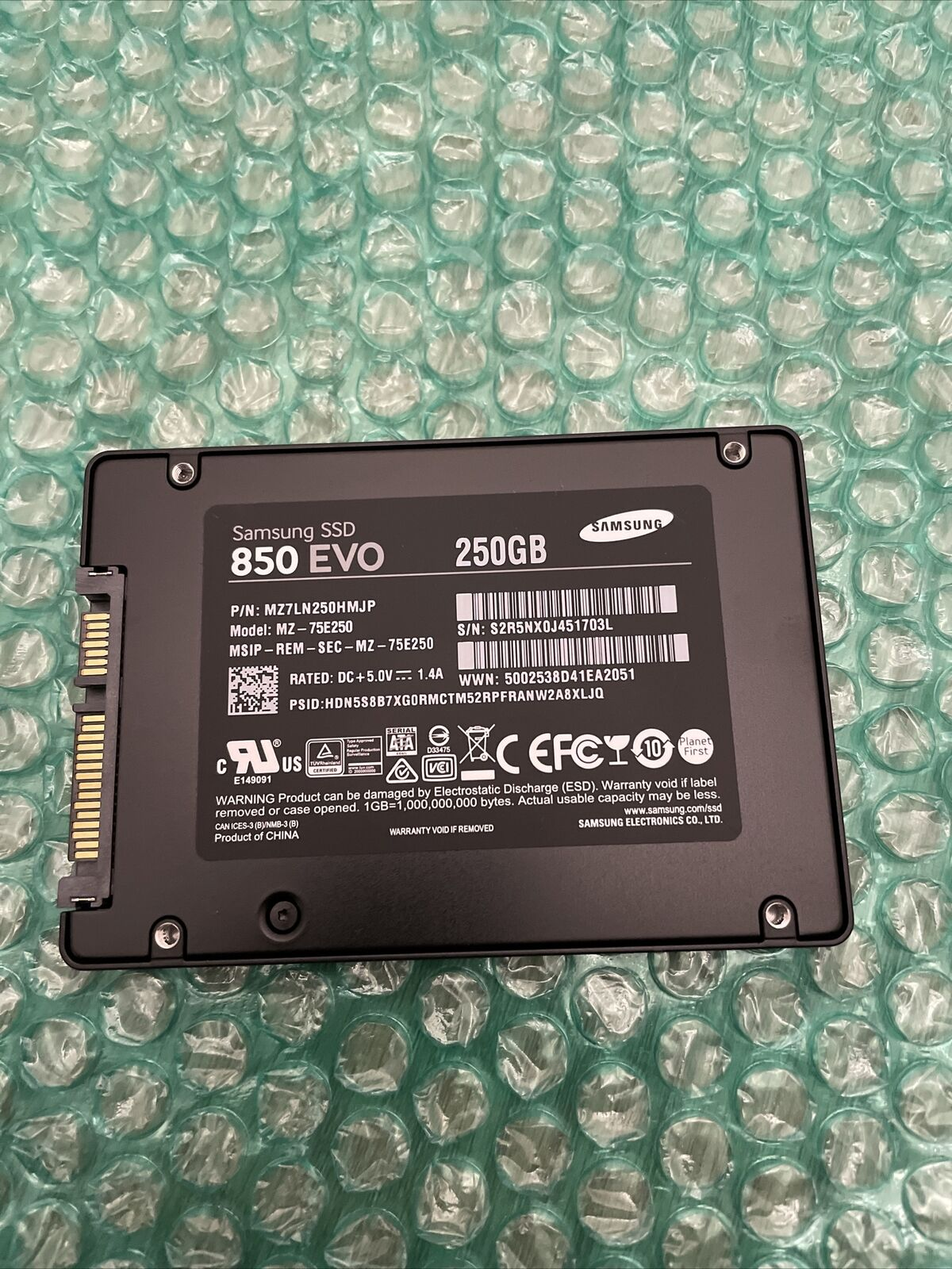 (95% Health) Samsung 850 EVO 250 GB 2.5