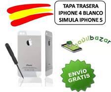 TAPA TRASERA BLANCA IPHONE 4 NUEVA CONVERSOR IPHONE 5 5S