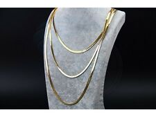 3 Row Snake Chain Lady Wome Girl Gold Plated Necklace Thick Chains