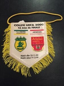 Nantes V Arsenal 19992000 Uefa Cup Official Mini Pennant Ebay