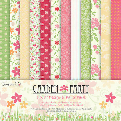 """DOVECRAFT GARDEN PARTY SAMPLE 12 X 6"""" X 6"""" PAPERS"""
