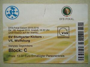 Ticket Dfb Pokal 201516 Stuttgarter Kickers Vfl Wolfsburg Steh