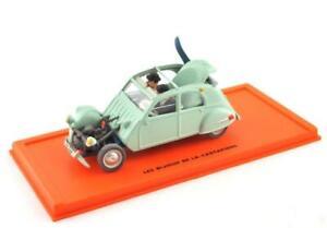 Metall-Modellauto-1-43-Tim-und-Struppi-Tintin-Collection-Ente-Citroen-2-CV-belge