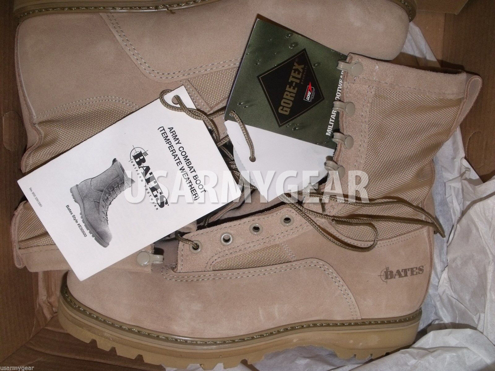 Hecho En Usa Bates Us Army Militar ICB Tw Goretex templadas Combat botas 10,5