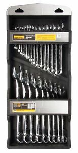 Halfords-25-Piece-Combination-Spanner-Set-Tool-Box-Chrome-Vanadium-Steel