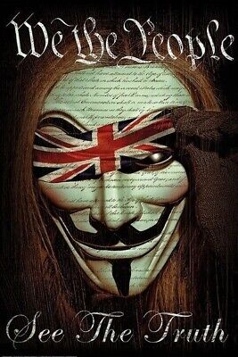 ~ GUY FAWKES WE THE PEOPLE ~ DAVEED BENITO ~ 24x36 ART POSTER ~ NEW//ROLLED