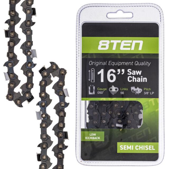"3//8/"" 0.050/"" 57 DL 3450 303T 6x 16/"" Semi Chisel Chainsaw Chain for Echo CS 352"
