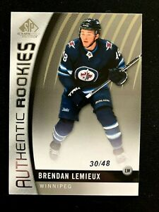 2017-18 SP Game Used #109 Brendan Lemieux/48 TRUE RC