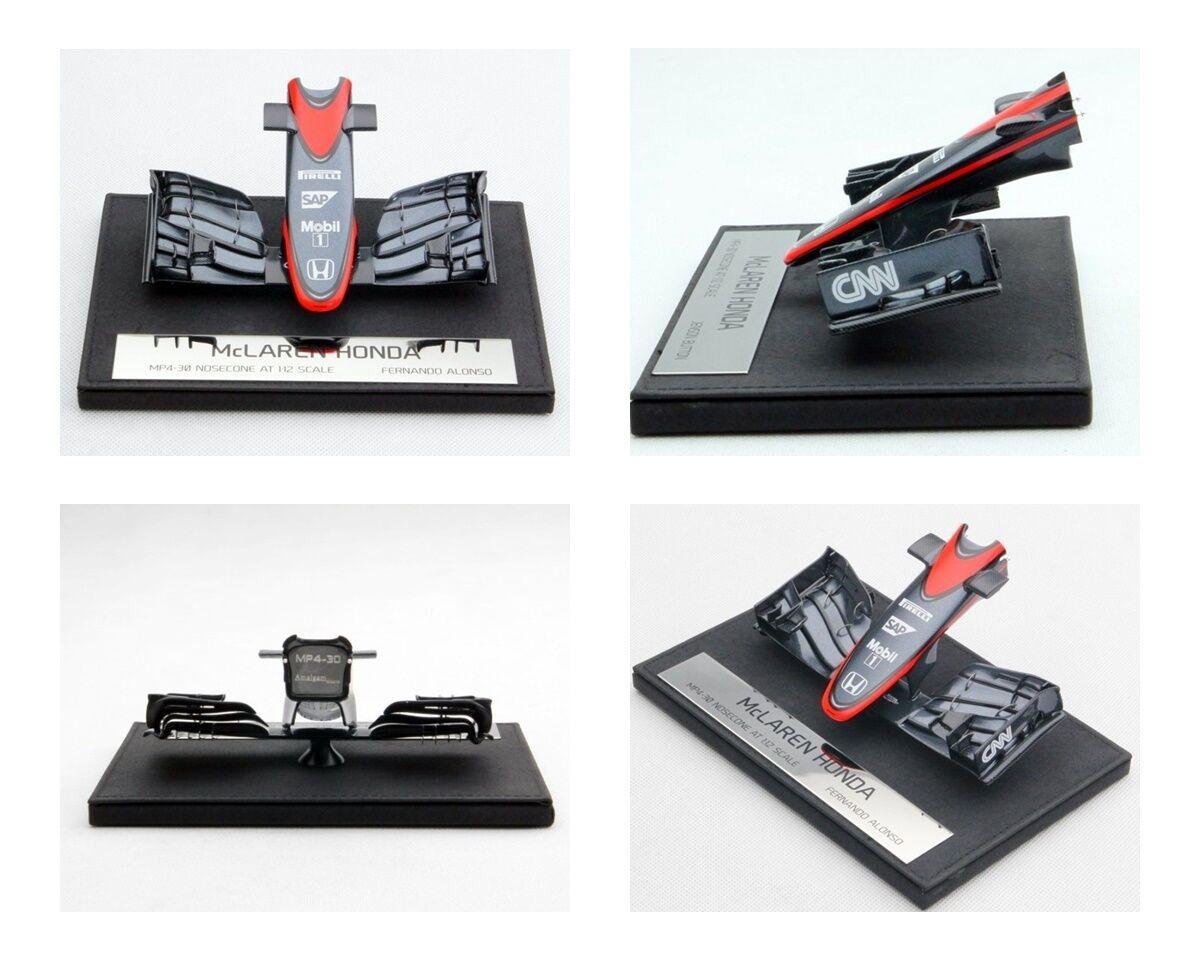 1 12 Amalgam McLaren MP4-30 Formula 1 Nosecone Fernando Alonso 2015 RARE NEW