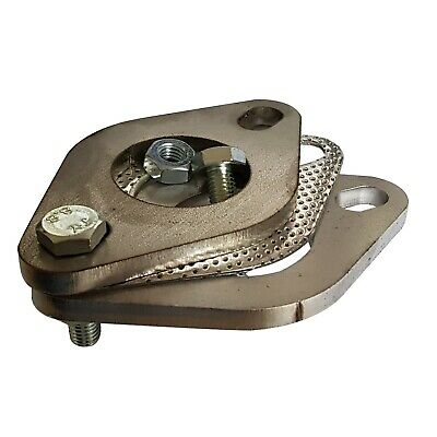 """38mm Exhaust pipe Repair Flange set joiner 1.5/"""" kit with bolts Mild steel"""
