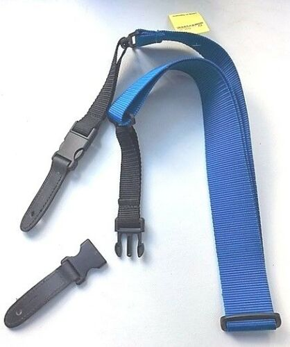CLIPLOCK GITARRENGURT blau GUITAR STRAP CLIP LOCK