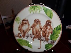 RARE*** AMERICAN ATELIER THREE MONKEYS 5312 - SALAD PLATES, BOWLS, MUGS