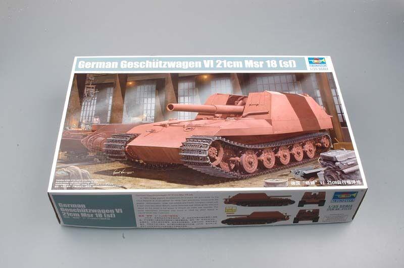 Trumpeter 01540 1 35 Geschutzwagen Tiger Grille21 210mm Mortar 18 1 L 31