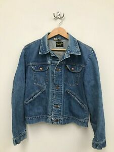 Vintage-70s-Men-039-s-Wrangler-Denim-Jean-Jacket-Size-44-Made-in-USA