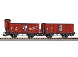 Piko-58373-HO-Gauge-Classic-DR-Fit-Box-Wagon-Set-2-III