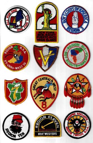 C1584 BSA National Original Regions 1-12 Souvenir Complete Set