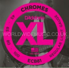 D'Addario ECB81 Chromes Light Gauge Long Scale Bass Guitar Strings 45-100