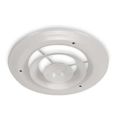 Zoro Select 4Jrl1 10 In Round Step-Down Ceiling Diffuser, White