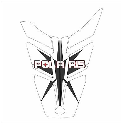 POLARIS HOOD GRAPHIC RUSH PRO RMK 600 700 800 ASSAULT 144 155 163  black white w