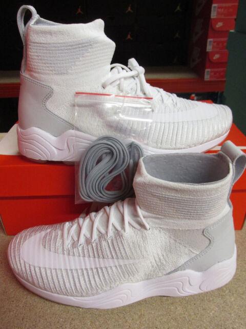 Nike Zoom Mercurial XI FK Flyknit Spiridon NSW bianca grigio grigio grigio Uomo scarpe   65d151