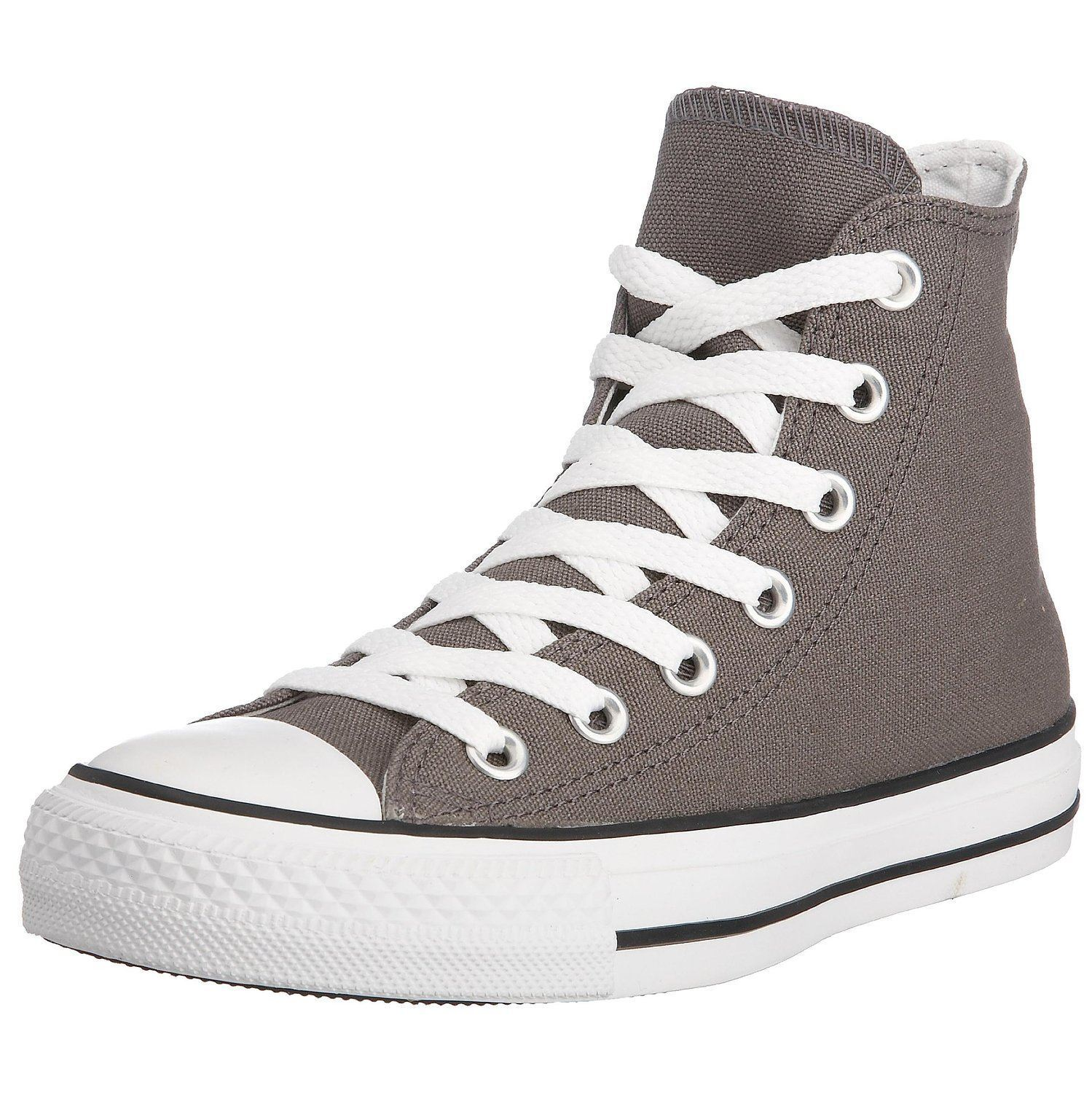 Converse Chuck Taylor All Star Charcoal White Hi Unisex Trainers Stivali