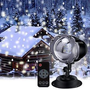 cc Luci Proiettore Luce Natale Laser LED Addobbi Natalizi Fiocco Di Neve linq