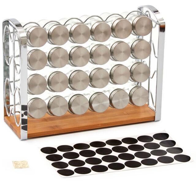 3-Tier Spice Rack EZOWare Spice Jars Bottle Holder Storage Organizer Shelf for