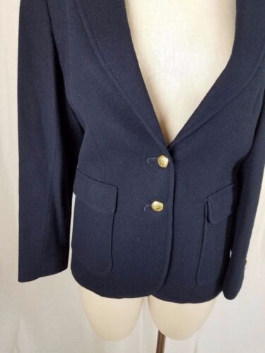 équitation Boutons en Veste 12 Ll Vintage 80 USA Bean Blazer 2 Manteau Womens laine TOYYq1wxU