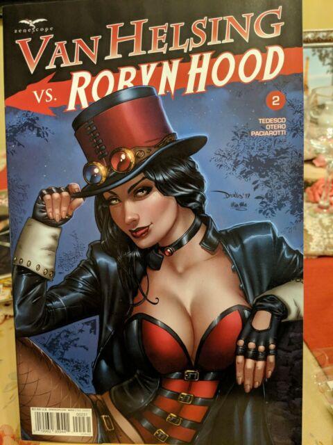 1E cover ~ blank sketch cover ~ Zenescope comic Van Helsing Vs Robyn Hood #1