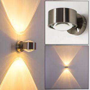 Design Wohn Zimmer Leuchten Küchen Flur Lampe Nickel Wandleuchte