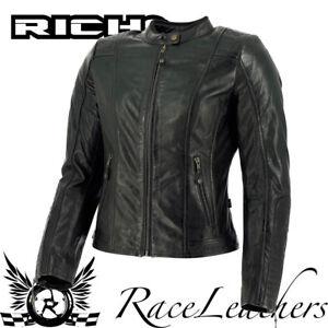 richa lausanne schwarz damen retro leder motorrad motorrad. Black Bedroom Furniture Sets. Home Design Ideas