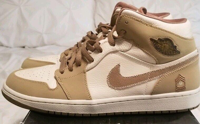 Nike air jordan jordan jordan retro - 1 n bewaffneten pearl Weiß walnuss -  12 (325514 221) 0ebecb