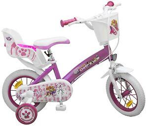 kinderfahrrad paw patrol 12 zoll mit puppensitz st tzr der kinder fahrrad pink ebay. Black Bedroom Furniture Sets. Home Design Ideas