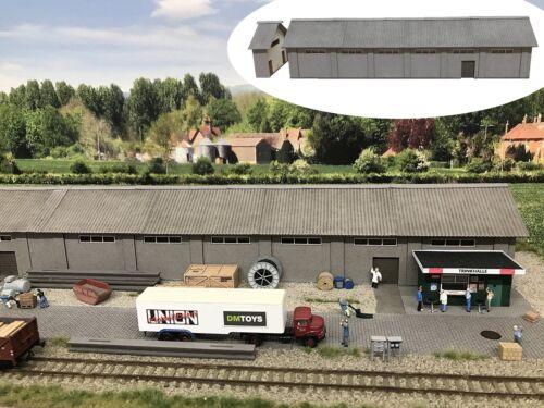 NEU MU N-i00042 Lagerhalle // Güterschuppen mit Verlängerung lang Spur N