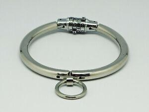 Staniless-Steel-Irish-Halsband-Halsreif-O-Ring-Zahlenschloss-Innen-100-mm