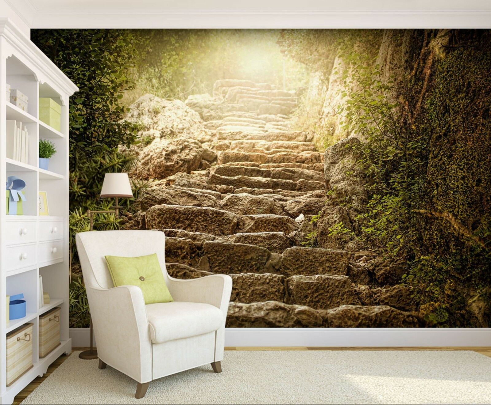 3D Ladder Tree 7293 Wallpaper Mural Wall Print Wall Wallpaper Murals US Lemon