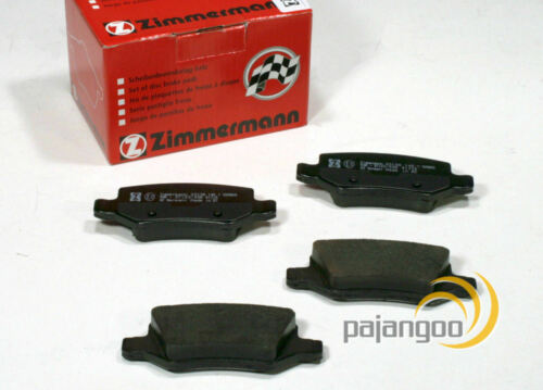 W245 Zimmermann Bremsbeläge Bremsklötze Bremsen für hinten Mercedes B-Klasse