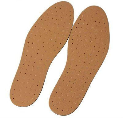 SYNTHETIC LEATHER INSOLES 12 x PAIRS OF ULTRA COMFORTABLE UNISEX CUT TO SIZE.