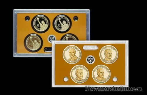 2014 S Presidential Proof Set in Lens Case ~ Harding Coolidge Hoover Roosevelt